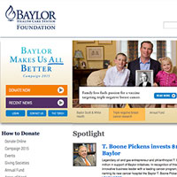Baylor Foundation website