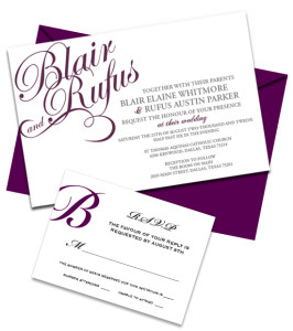 Blair Wedding Invitation